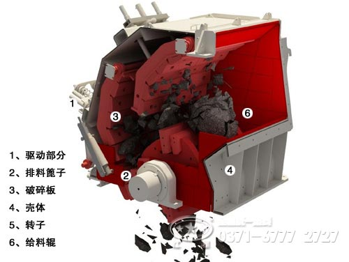 也是通过电动机带动转子在破碎腔内高速旋转