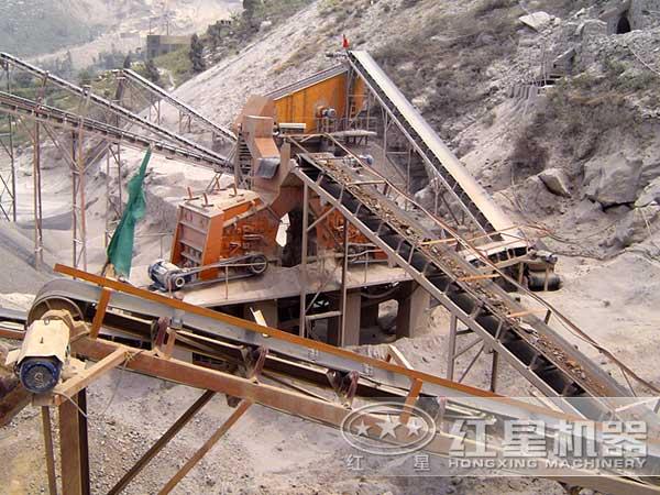 石料生产线现场示意图