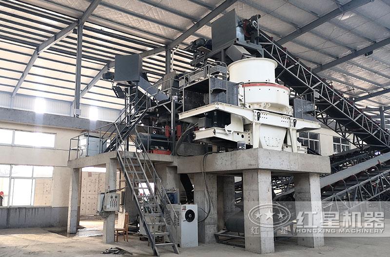 HVI鹅卵石制砂机生产现场