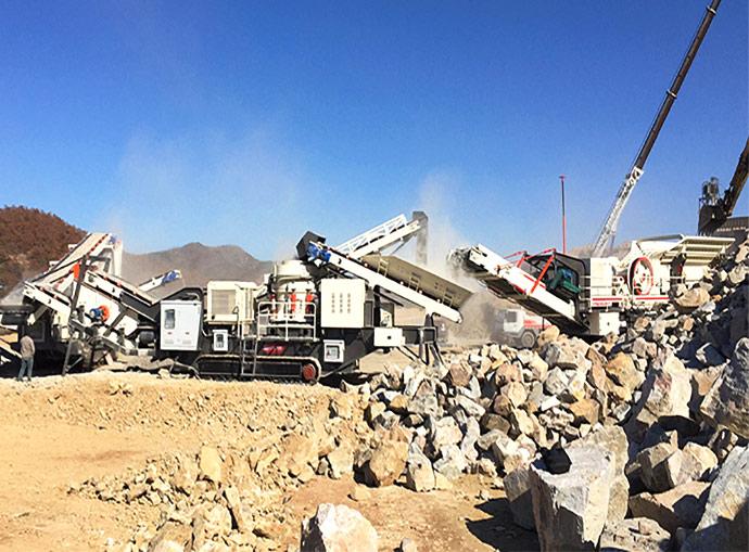 安徽宣城建筑垃圾移动破碎站生产案例